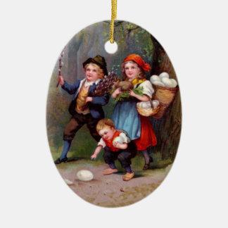 Vintage Easter Egg Hunters Ornaments