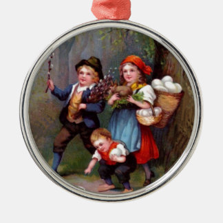 Vintage Easter Egg Hunters Christmas Tree Ornament