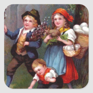 Vintage Easter Egg Hunters Sticker