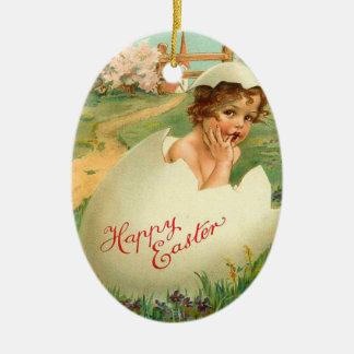 Vintage Easter Egg Ornament