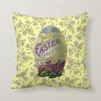 Vintage Easter Egg Throw Pillow