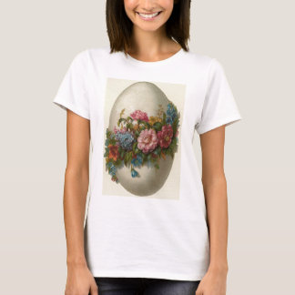 Vintage Easter Egg With Flowers Easter Card T-Shirt
