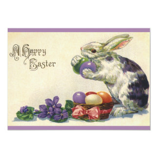 Vintage Easter Eggs and Victorian Easter Bunny Card