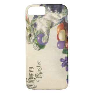 Vintage Easter Eggs and Victorian Easter Bunny iPhone 7 Case