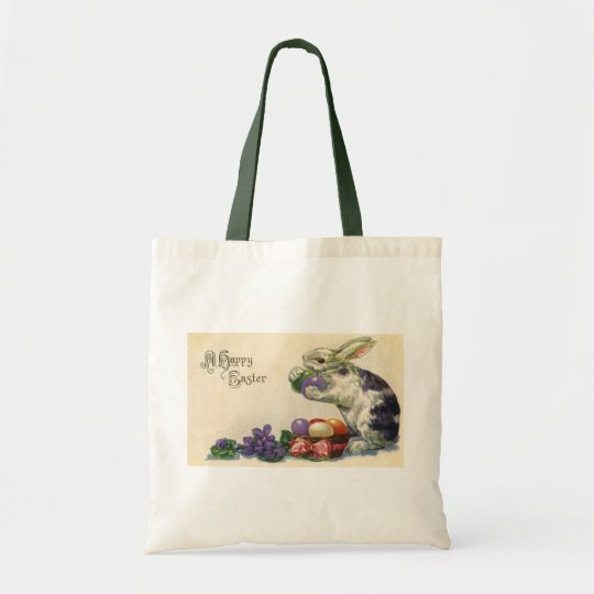 Vintage Easter Eggs and Victorian Easter Bunny Tote Bag