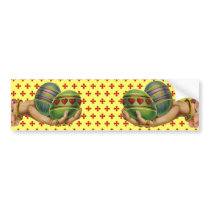 Vintage Easter Eggs Bumper Sticker