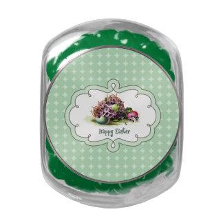 Vintage Easter Eggs Design Easter Gift Candy Glass Candy Jar