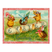 Vintage Easter Eggs Postcard