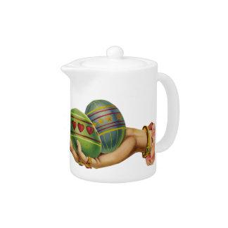 Vintage Easter Eggs Teapot
