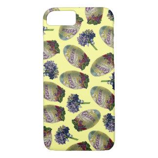 Vintage Easter Eggs & Violets iPhone 7 Case