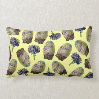 Vintage Easter Eggs & Violets Lumbar Pillow