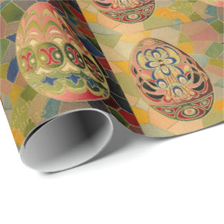 Vintage easter wrapping paper zazzle vintage easter eggs wrapping paper negle Choice Image