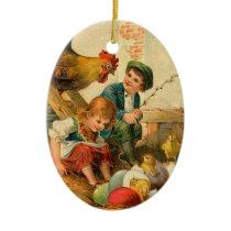 Vintage Easter Farm Ornament