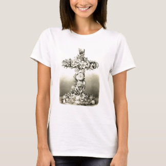 Vintage Easter Floral Christian Cross 1869 T-Shirt