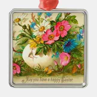 Vintage Easter  Floral Ornament