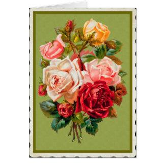 Vintage Easter flowers card