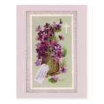 Vintage Easter Flowers Postcard