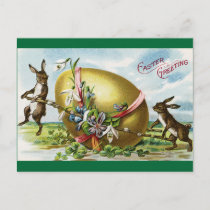 Vintage Easter Greeting Holiday Postcard