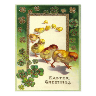 Vintage Easter Greetings 1913 Postcard