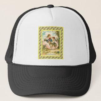 Vintage Easter Greetings, 1930s Trucker Hat