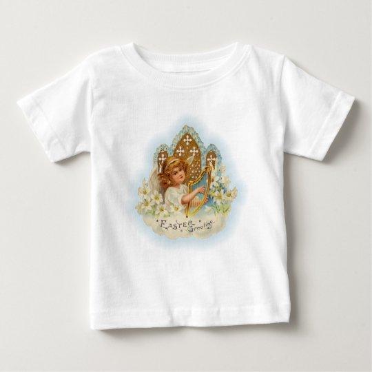 Vintage Easter Greetings Angel Baby T-Shirt