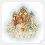 Vintage Easter Greetings Angel Stickers