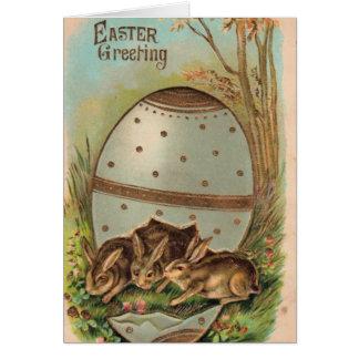 Vintage - Easter Greetings Greeting Card