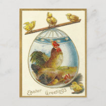 Vintage Easter Greetings Holiday Postcard