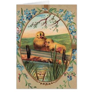 Vintage - Easter Greetings - Little Chicks Greeting Card