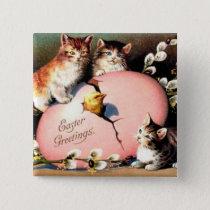 Vintage - Easter Greetings Pinback Button