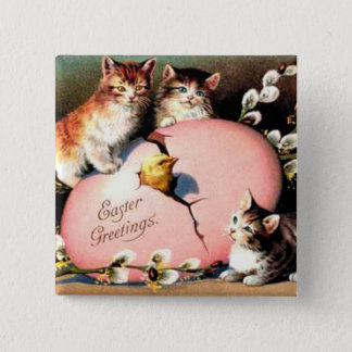 Vintage - Easter Greetings Pinback Button