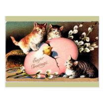 Vintage - Easter Greetings Postcard