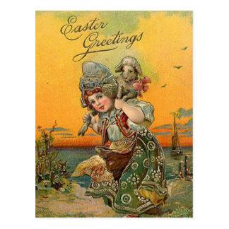 Vintage Easter Holiday art postcard