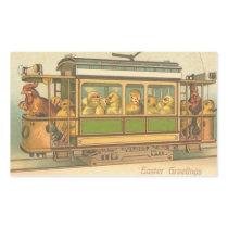 Vintage Easter Holiday art sticker