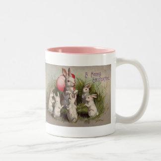 Vintage Easter Holiday Bunny coffee mug