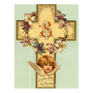 Vintage Easter Holiday Greeting Postcard