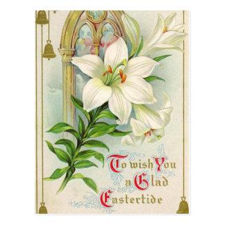 Vintage Easter Holiday Greeting Postcard