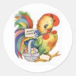 Vintage Easter Image Round Sticker