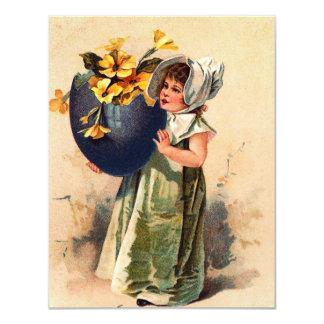 """Vintage Easter Invitation 4.25"""" X 5.5"""" Invitation Card"""