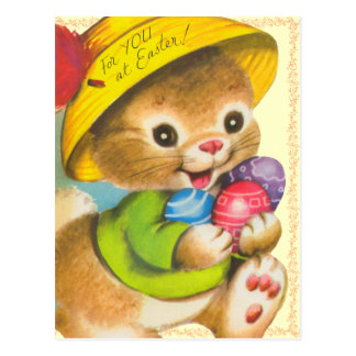 Vintage Easter Kids Postcard