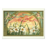 Vintage Easter Lilies and Angels at Sunrise Announcement