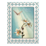 Vintage Easter Lilies and Dove Postcard