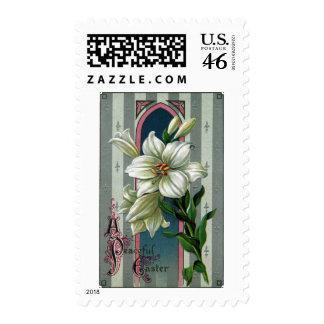 Vintage Easter Lilies Stamp