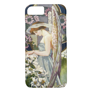 Vintage Easter Lily Flowers and Victorian Angel iPhone 7 Case