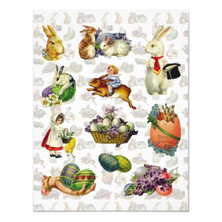 Vintage Easter Luncheon 4.25x5.5 Paper Invitation Card