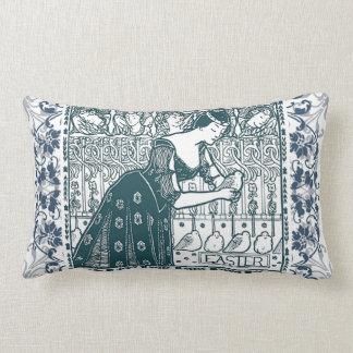 Vintage Easter oblong pillow