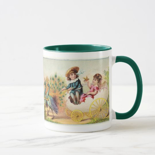 Vintage Easter Peacocks Mug