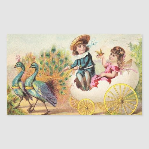 Vintage Easter Peacocks Sticker