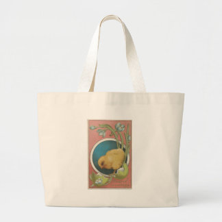 Vintage Easter Postcard Large Tote Bag