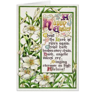 Vintage Easter Prayer Card